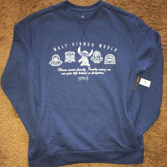 Dark Gray Black Walt Disney World Sweat Shirt Size Large Side Pockets